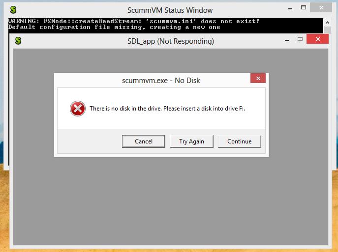 scummvm exe - No Disk error on 1 6 0 win32 - ScummVM :: Forums
